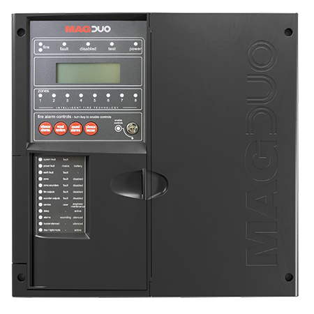 ESP MAGDUO 4 Zone Two-Wire fire alarm Panel Black | MAGDUO4B
