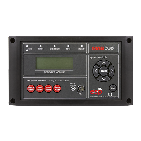 ESP MAGDUO Repeater Panel for MAGDUO 4 or 8 Zone Panels Black | MAGDUOREPB