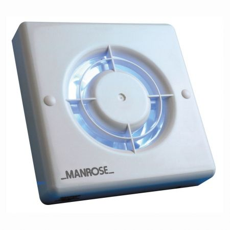 Manrose XF 100mm Bathroom Extractor Fan With Pullcord Switch | XF100P