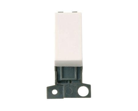 Click MiniGrid 10AX Ingot 2 Way Retractive Switch White MD004PW