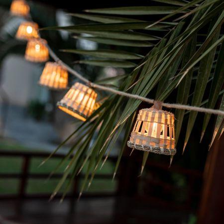 Be Happy AURORA Solar Powered Decorative Garland | LUMAUR800XXSLNW