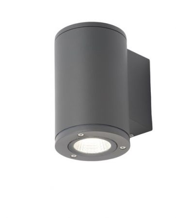Zinc Mizar 1 x 10w LED Up or Down Wall Light 4000K Anthracite   ZN-34020-ANTH