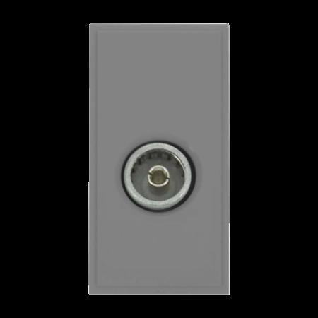 Click New Media Single Female Coax Module Grey   MM410GY