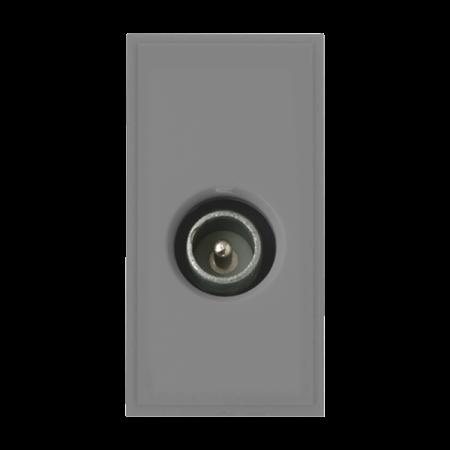 Click New Media Single Male Coax Module Grey   MM415GY