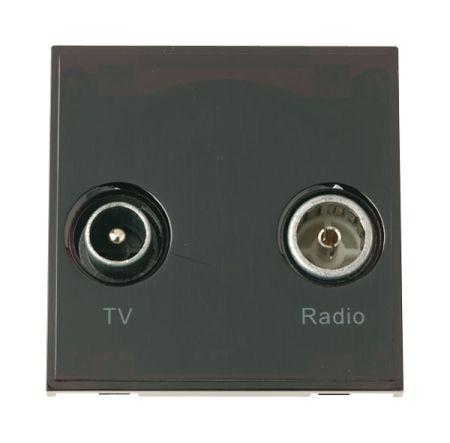 Click New Media Diplexed TV and Radio Sockets Black MM420BK
