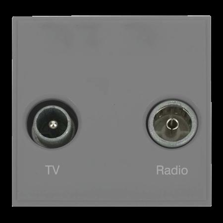 Click New Media Diplexed TV and Radio Socket Module Grey | MM420GY