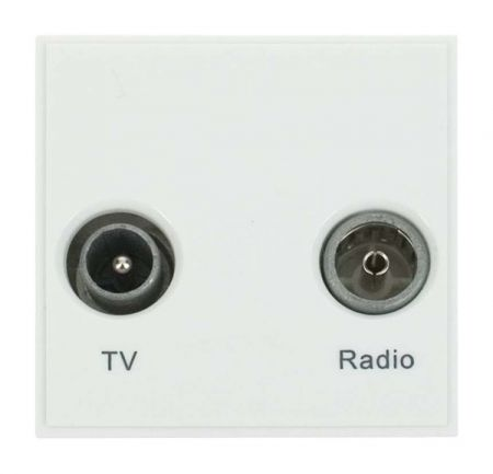 Click New Media Diplexed TV and Radio Sockets White MM420WH