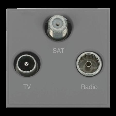 Click New Media Triplexed TV, Radio & Satellite Module Grey | MM430GY