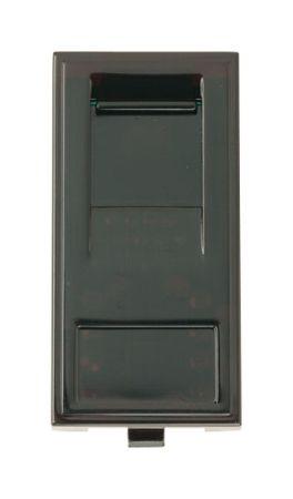 Click New Media RJ45 Cat-5E Outlet Socket - Black MM480BK