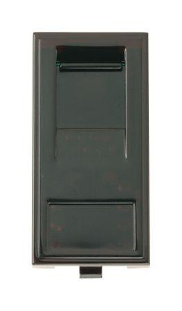 Click New Media RJ45 Cat-6 Outlet Socket Black MM485BK