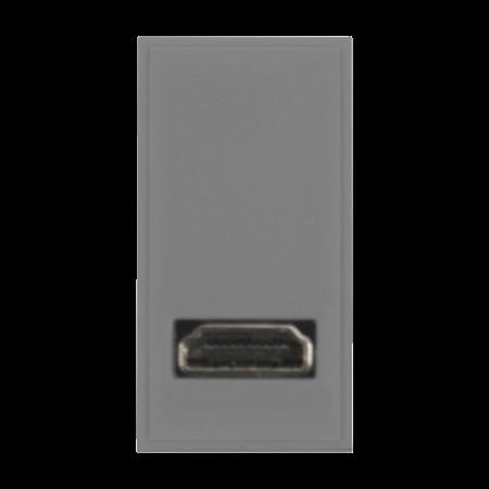 Click New Media HDMI + FLY LEAD 1G Width Module Grey | MM501GY