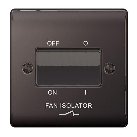 BG Nexus Metal Black Nickel 3 Pole Fan Isolator Switch | NBN15