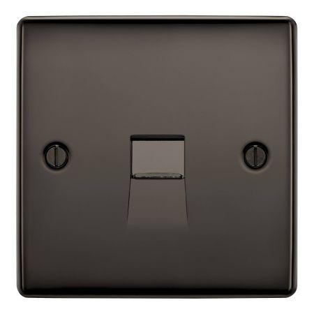 BG Nexus Metal Back Nickel Single Telephone Master Socket | NBNBTM1