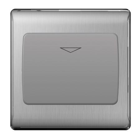 BG Nexus Metal Brushed Stainless Steel 16A Hotel Key Card Switch Grey Insert | NBSKYCSG