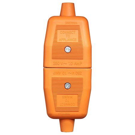 Masterplug Permaplug Heavy Duty Inline 2 Pin Connector Orange | NC102O