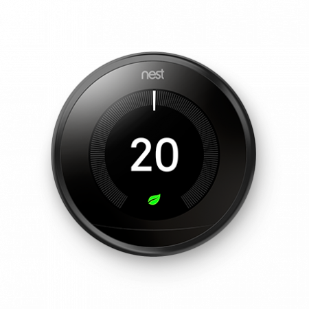 Google Nest Learning 3rd Generation Thermostat Black | T3029EX
