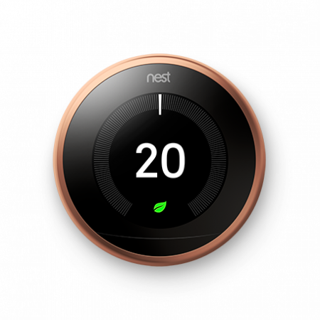 Google Nest Learning 3rd Generation Thermostat Copper | T3031EX