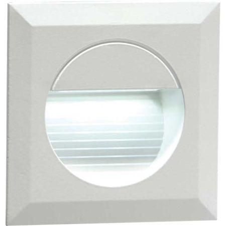 Knightsbridge 230V Recessed IP54 Square LED Guide Light White NH019W