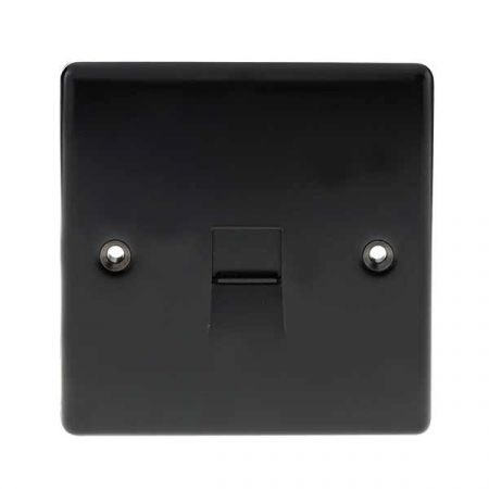 BG Nexus Metal Coaxial TV Socket Matt Black | NMB60