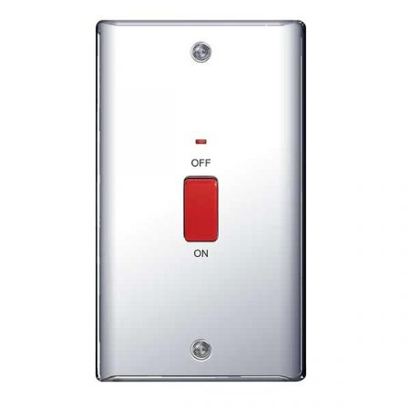 BG Nexus Metal Polished Chrome 45A Vertical Cooker Switch | NPC72