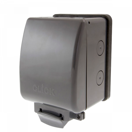 Click AQUIP66 1G Weatherproof IP66 Outdoor Socket | OA035AG
