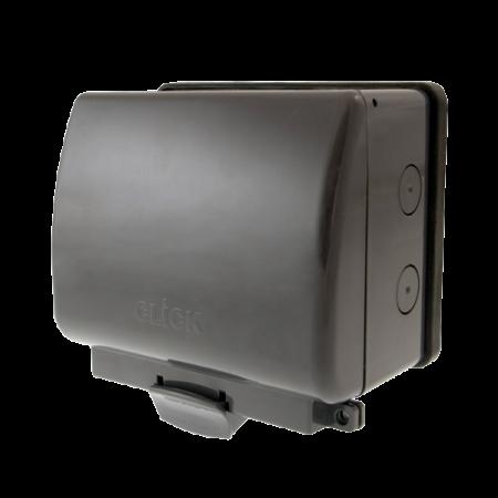 Click AQUIP66 2G Weatherproof IP66 Outdoor Socket | OA036AG