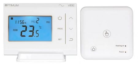 Optimum Vibe (RF) Battery Programmable Room Thermostat | OP-TPISTAT