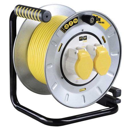 Masterplug Pro-XT 30M 110V Metal Open Reel Extension Reel | OTMU30162LV