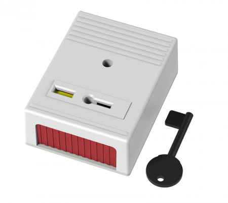 CQR Single Push Panic Button White | PASP1