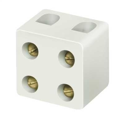 Niglon 2-Way Porcelain Connector Block 5A | PC52