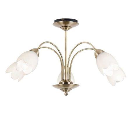 Endon Lighting Petal 5 light Semi-Flush Pendant Antique Brass 124-5AB