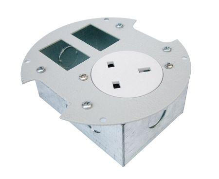 Tass 13A Round Power Grommet + 2 Data Module Space Black | PG003B