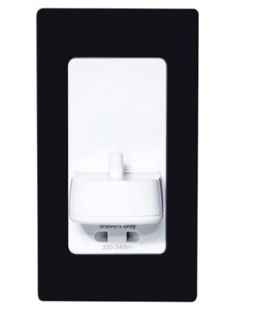 ProofVision Black Steel Cover for in PV11 & PV12 Wall Electric Toothbrush Charger | PV11-B-FR