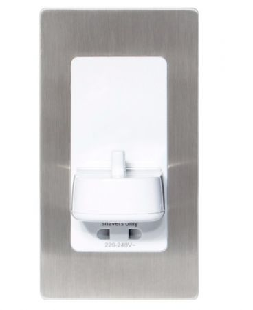 ProofVision Brushed Steel Cover for in PV11 & PV12 Wall Electric Toothbrush Charger | PV11-BS-FR