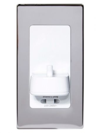 ProofVision Polished Chrome Cover for in PV11 & PV12 Wall Electric Toothbrush Charger | PV11-PS-FR