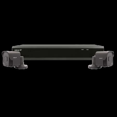 ESP Rekor IP 4 Channel 1TB 2MP 2 x External Grey CCTV System | REKIP4KB2G