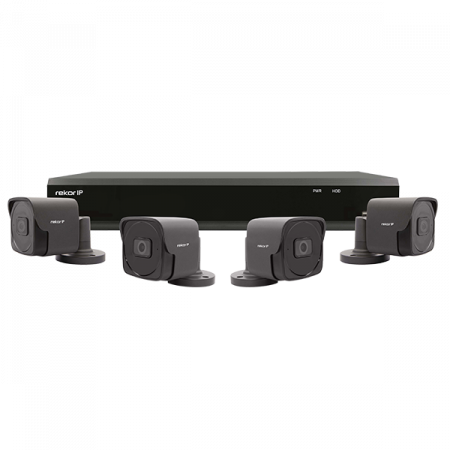 ESP Rekor IP 4 Channel 1TB 2MP 4 x External Grey CCTV System | REKIP4KB4G