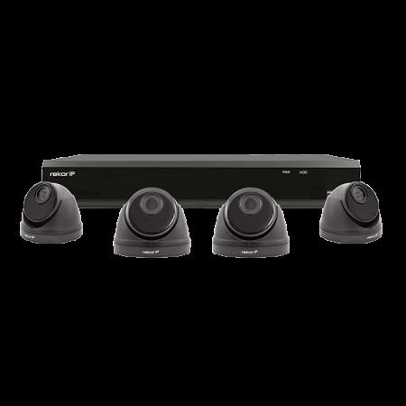 ESP Rekor IP 4 Channel 1TB 2MP 4 x Dome Grey CCTV System | REKIP4KD4G
