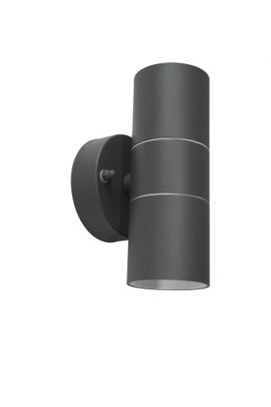 Core Lighting Up and Down Wall Light Anthracite Grey Finish   CP-GRYUDL-GU10