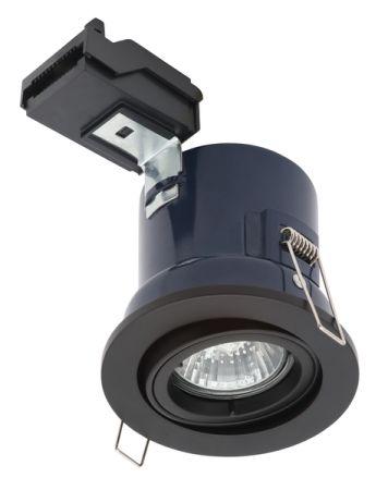 Electralite Yate IP20 Adjustable GU10 Fire Rated Downlight Matt Black | ELA-27466-MBLK