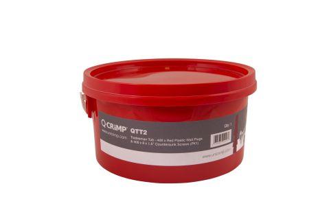 Q-Crimp Tradesman 400 x Red Plastic Wall Plus & Screws Trade Tub QTT2