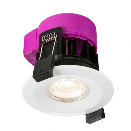 Knightsbridge IP65 6W LED Fire Rated Dimmable Downlight Warm White RW6WW