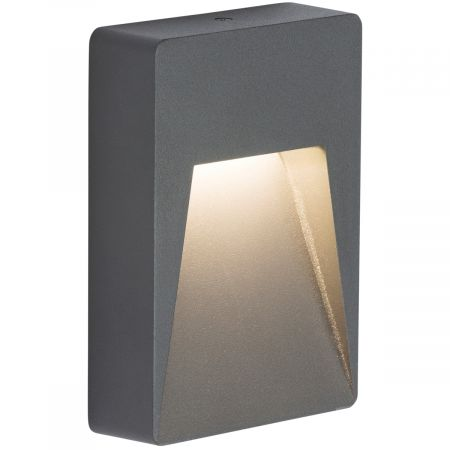 Knightsbridge RWL2A IP54 2w LED Wall/Guide Light Anthracite