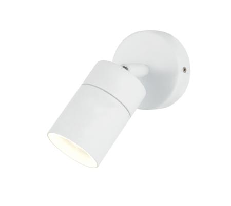 Zinc Leto Adjustable GU10 Wall Light White ZN-26536-WHT