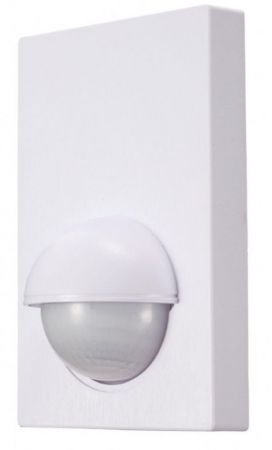 Zinc Alia 180º Wall Mount PIR Motion Sensor with Manual Override White | ZN-26592-WHT