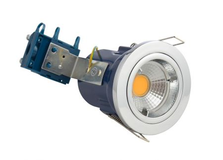 Electralite Yate IP20 Fire Rated GU10 Fixed Downlight Chrome