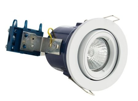 Electralite Yate IP65 Fire Rated GU10 Fixed Downlight White