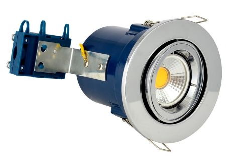 Electralite Yate IP20 Adjustable GU10 Fire Rated Downlight Chrome
