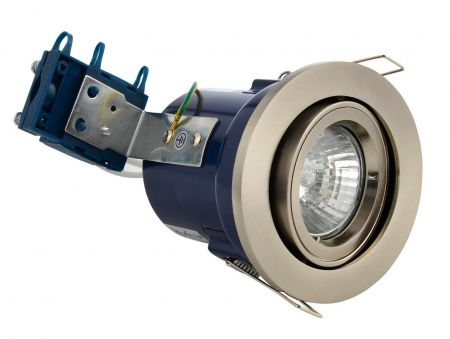Electralite Yate IP20 Adjustable GU10 Fire Rated Downlight Satin Nickel