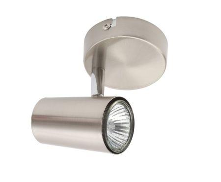 Inlight Harvey 1 Light GU10 Single Spotlight Satin Nickel
